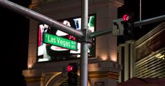 South Las Vegas Blvd sign on strip 4k Stock Footage
