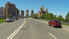 City Driving Time lapse - stock footage