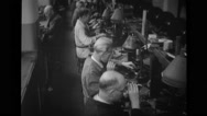 Male worker working in factory Stock Footage