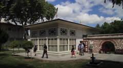 Terrace Kiosk in The Topkapi Palace - stock footage