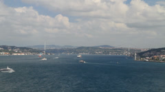 The Bosphorus in Istanbul - stock footage