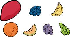 Assorted Fruits - stock illustration