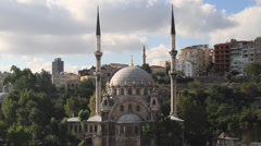 Nusretiye Mosque in Istanbul Turkey - stock footage