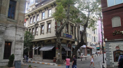 Streets and building near the Hippodrome of Constantinople - stock footage