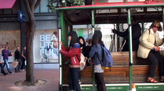 Passengers in the San Francisco Cable Car. Stock Footage