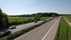 German highway near Ulm, Germany Stock Footage