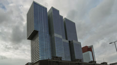 Rotterdam Rem Koolhaas Building - Timelapse Stock Footage