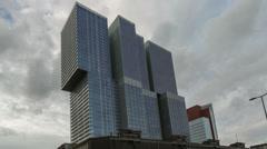 Rotterdam Rem Koolhaas Building - Timelapse - stock footage