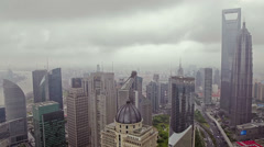 View of Shanghai Lujiazui financial district , Shanghai, China Stock Footage