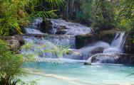 Stock Photo of Tad Kwang Sri Waterfall , Luang Prabang Province, Loa.