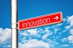 Innovation Street sign - stock photo