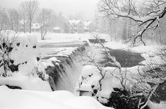 Kingfield Snowstorm Stock Photos