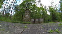 Germany - Thuringia - Monument in the Jonas Valley Stock Footage