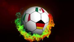 Soccer Ball with World Flag Stock Footage