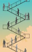 stairway - stock illustration