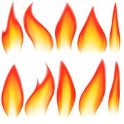 Flame elements Stock Illustration