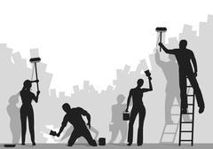 painters - stock illustration