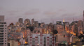 View of the city at sunset. Sao Paulo, Brazil. Day to night.  4k (4096 X 2304) Footage