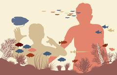 aquarium - stock illustration