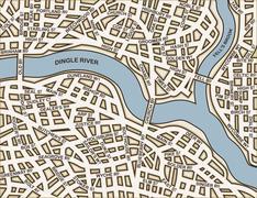 generic streets - stock illustration