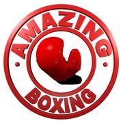 Stock Illustration of Amazing Boxing circular design