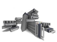 Computer Server Big Data Stock Illustration