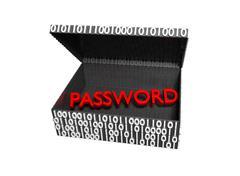 Password in a Numeric Box - stock illustration