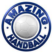 Amazing Handball circular design Stock Illustration