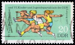 Germany postage stamp - stock photo