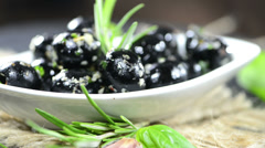 Black olives (loopable hd video) Stock Footage