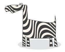 Clip art zebra Stock Illustration