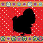 Retro turkey - stock illustration