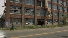 RemGrit Complex in Bridgeport Connecticut. Urban Decay in Bridgeport CT. Stock Footage