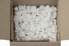 Curls of polystyrene Stock Photos