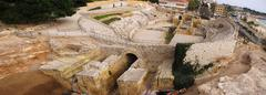 roman amphitheater - stock photo