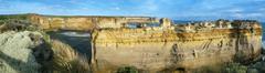 cliffs in australia - stock photo