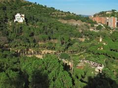 Barcelona, Spain, 2009: Parc Guell by Gaudi, world heritage site Stock Photos
