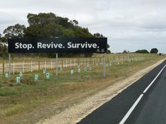 Stop revive survive Stock Photos