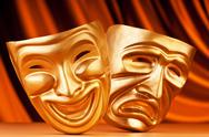 Stock Photo of Masks with the theatre concept