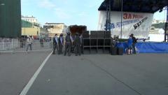 Police arrested Alexei Navalny, Bolotnaya square Stock Footage