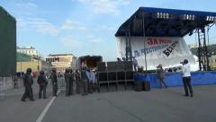 Police arrested Sergei Udaltsov, Bolotnaya square Stock Footage