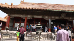 Tourists in the wild goose pagoda in beijing china Stock Footage