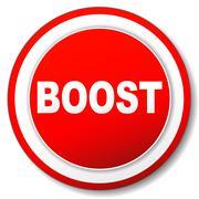 Vector boost icon Stock Illustration