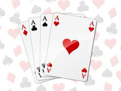 Four aces background Stock Illustration