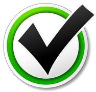Vector checkmark icon Stock Illustration