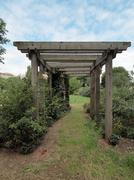 Garden arbour - stock photo