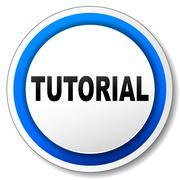 vector tutorial icon - stock illustration