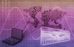 broadcast engineering - stock illustration
