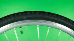 Bicycle Wheel Rotate Fast Stock Footage