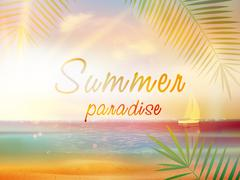 Summer time background with copyspace. - stock illustration